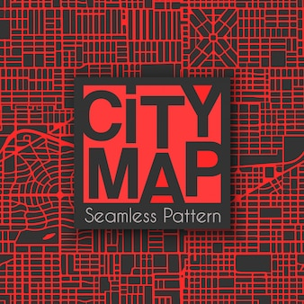 Plano de cidade sem costura abstrata