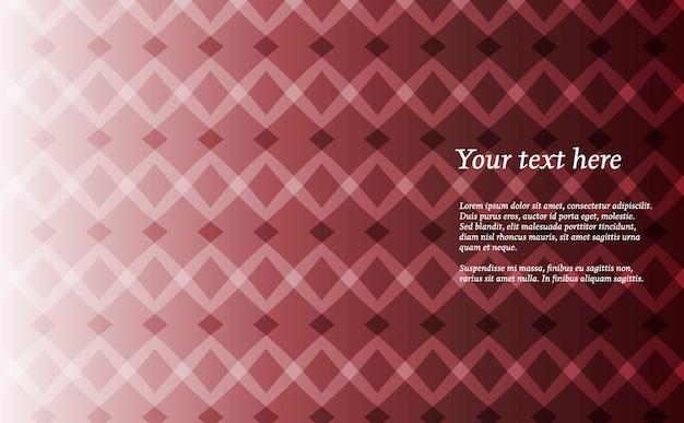 Plano de folheto vermelho geométrico elegante geométrico