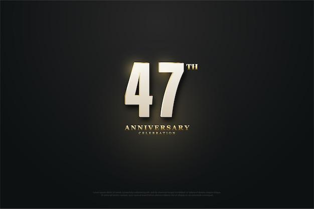 Plano de fundo 27º aniversário com ilustração de números iluminados.