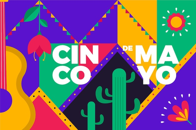 Plano de fundo cinco de mayo mexicano