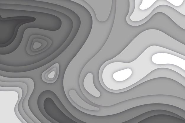 Plano de fundo cinza mapa topográfico