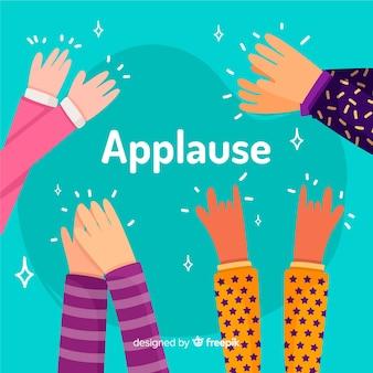 Plano de fundo colorido aplausos