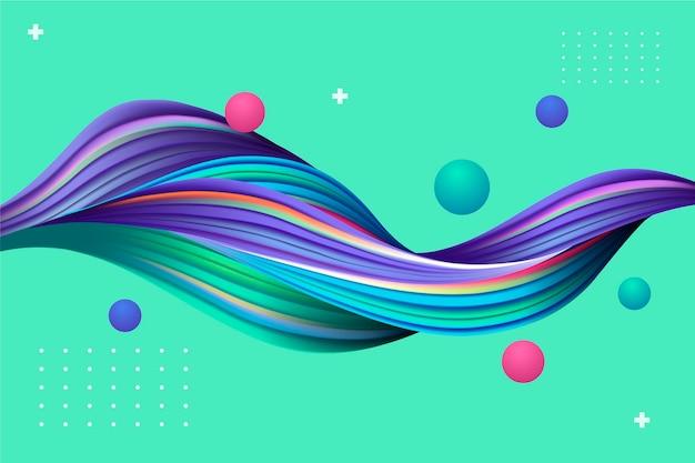 Plano de fundo colorido fluxo dinâmico