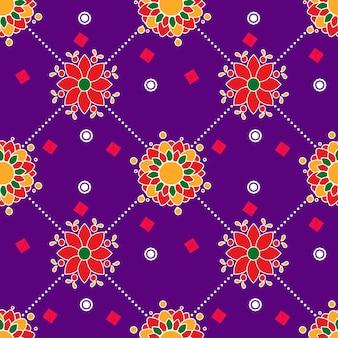Plano de fundo colorido padrão floral sem emenda.