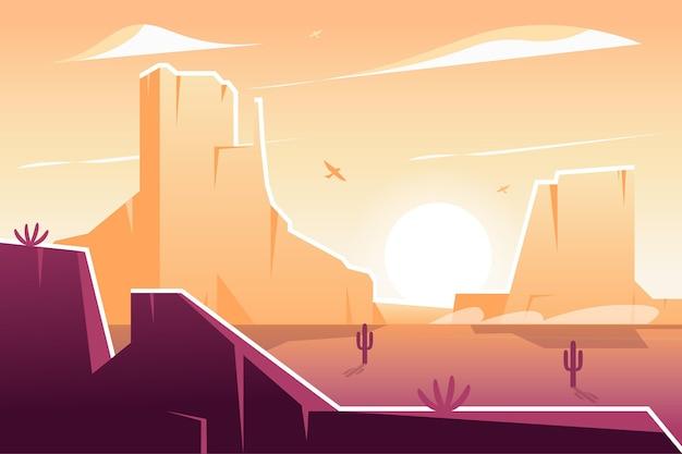 Plano de fundo com design de paisagem do deserto