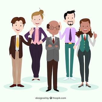 Plano de fundo com profissionais sorridentes