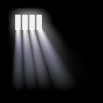 Plano de fundo da janela da prisão.