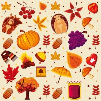 Plano de fundo da temporada de outono