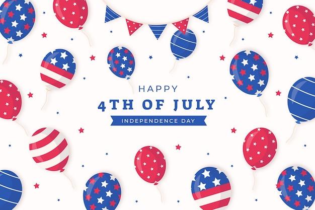 Plano de fundo de balões do dia da independência de 4 de julho