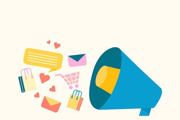 Plano de fundo de compras online em estilo simples