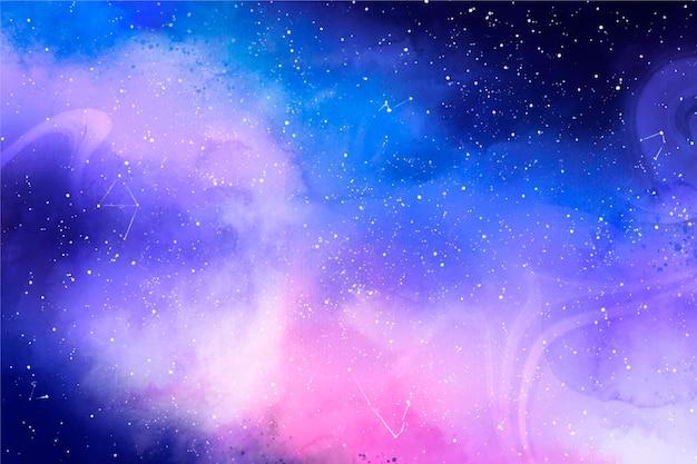 Plano de fundo de galáxia em aquarela criativa