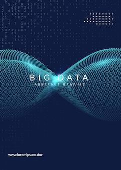 Plano de fundo de grande volume de dados. tecnologia para visualização, inteligência artificial, aprendizado profundo e computação quântica. modelo de design para o conceito de inovação. pano de fundo geométrico de big data.