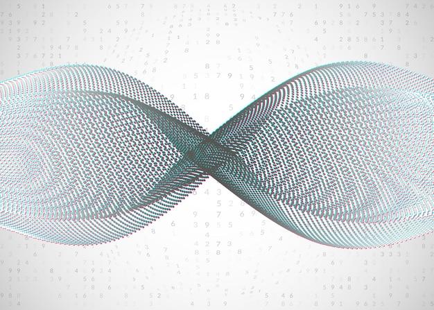 Plano de fundo de grande volume de dados. tecnologia para visualização, inteligência artificial, aprendizado profundo e computação quântica. modelo de design para o conceito de tela. cenário de grande volume de dados cibernético.