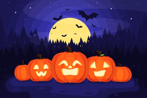 Plano de fundo de halloween de design