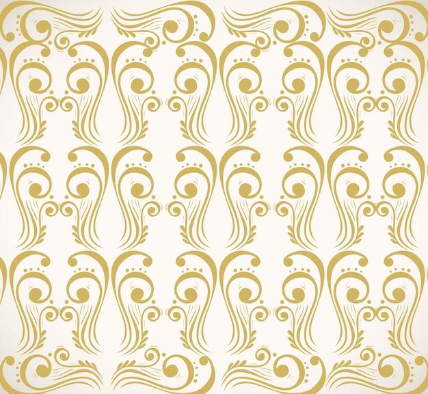Plano de fundo de luxuosos elementos decorativos de ouro