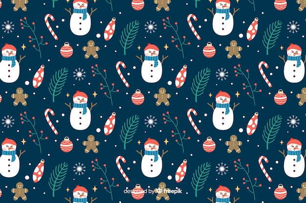 Plano de fundo de natal com snowmans