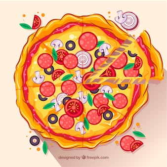 Plano de fundo de pizza de design