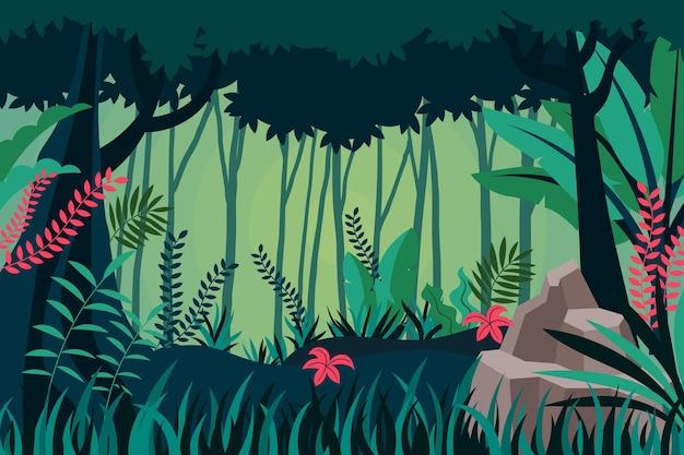 Plano de fundo de selva plana