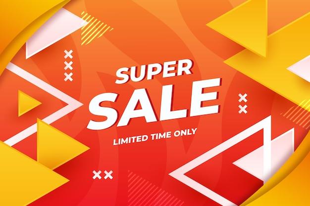 Plano de fundo de super venda por tempo limitado