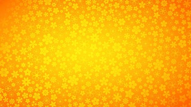 Plano de fundo de várias flores pequenas em cores laranja