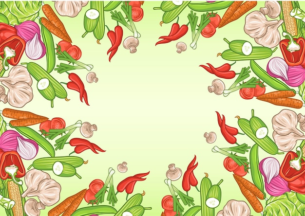 Plano de fundo de vegetais com espaço de texto, pôster de alimentos orgânicos, plano de fundo de vegetais
