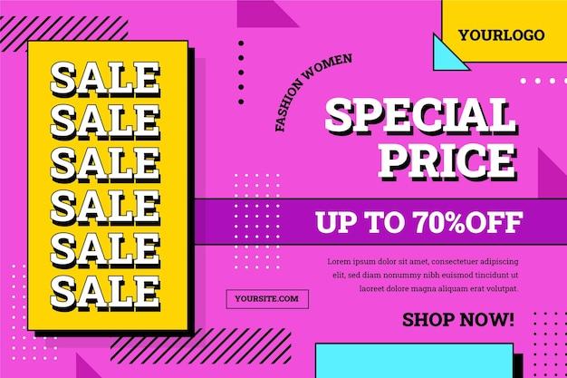 Plano de fundo de venda de design plano com desconto especial