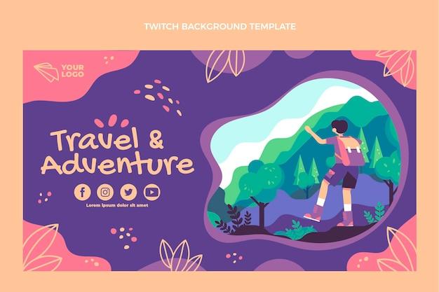Plano de fundo de viagem aventura twitch