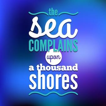 Plano de fundo de viagens. desenho náutico de mar. design tipográfico