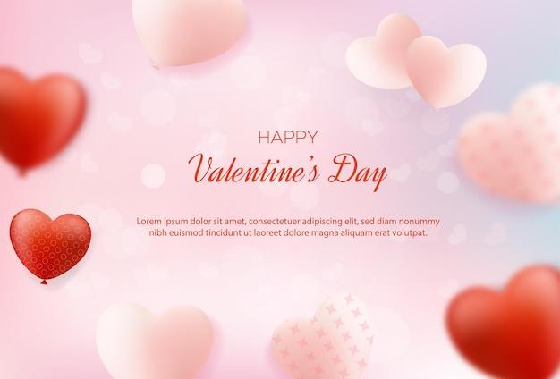 Plano de fundo dia dos namorados com doces balões de amor