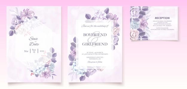 Plano de fundo dia dos namorados com flores desenhadas à mão