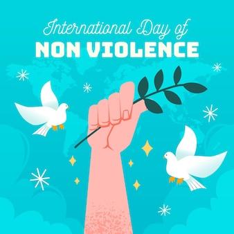 Plano de fundo dia internacional da não violência