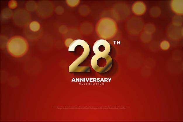 Plano de fundo do 28º aniversário com os números truncados