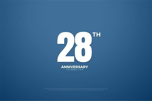 Plano de fundo do 28º aniversário com um design simples