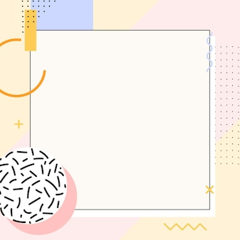 Plano de fundo do anúncio pastel memphis do instagram