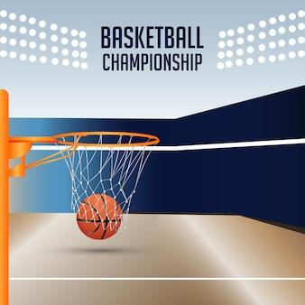 Plano de fundo do campeonato do torneio de basquete