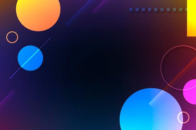 Plano de fundo do círculo geométrico, papel de parede da área de trabalho com vetor de várias cores