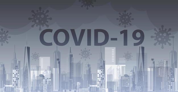 Plano de fundo do conceito de surto de influenza covid19 conceito de risco de saúde médica pandêmica