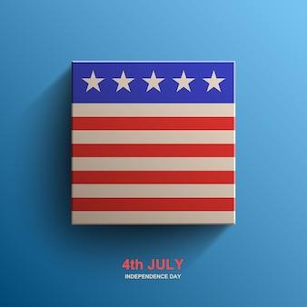 Plano de fundo do dia da independência americana, bandeira americana,