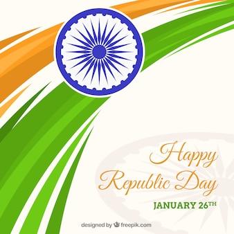Plano de fundo do dia da república da índia