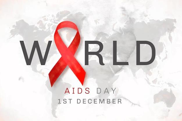 Plano de fundo do dia mundial da aids em aquarela
