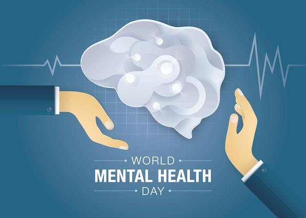 Plano de fundo do dia mundial da saúde mental