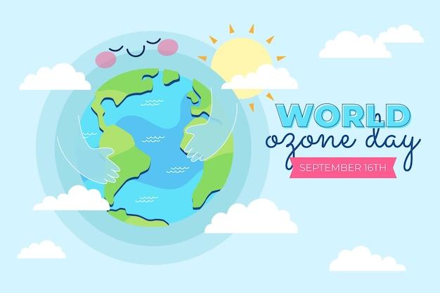 Plano de fundo do dia mundial do ozônio