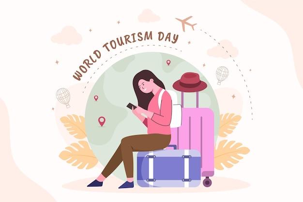 Plano de fundo do dia mundial do turismo