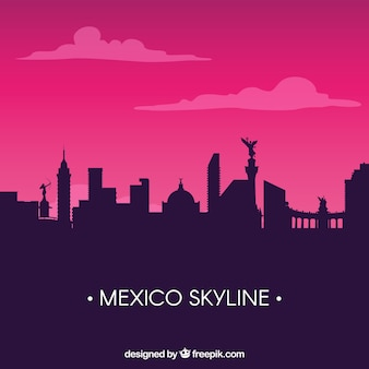 Plano de fundo do horizonte de mexico