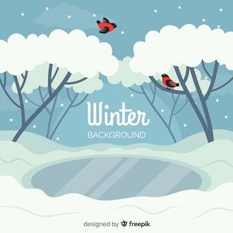 Plano de fundo do inverno
