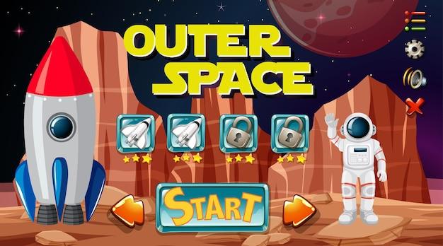 Plano de fundo do jogo no espaço sideral