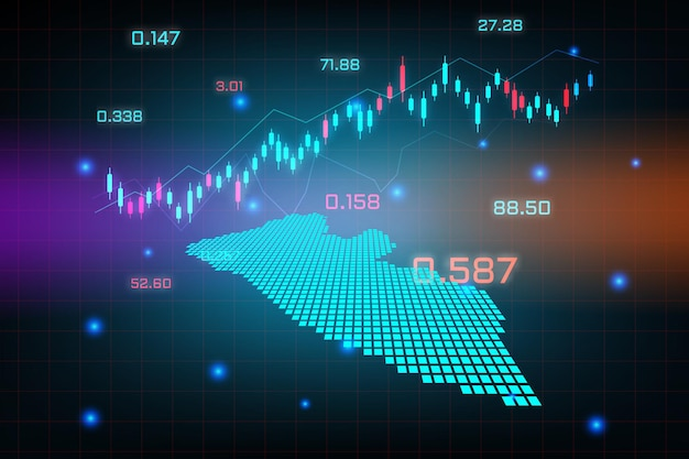 Plano de fundo do mercado de ações ou gráfico gráfico de negócios de negociação forex para o conceito de investimento financeiro do mapa da libéria. ideia de negócio e design de inovação tecnológica.