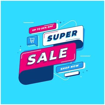 Plano de fundo do modelo de super venda