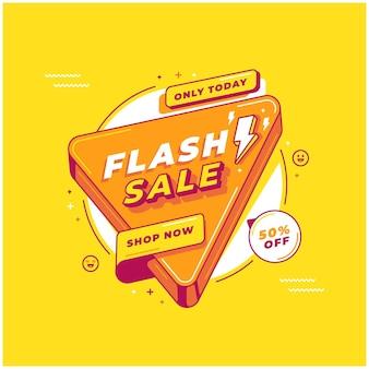 Plano de fundo do modelo de venda em flash