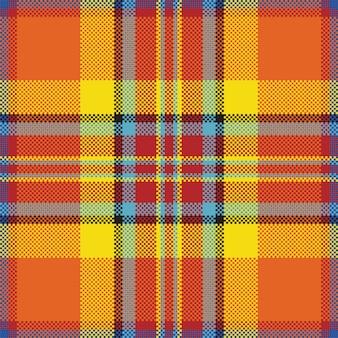 Plano de fundo do pixel. xadrez moderno padrão sem emenda. tecido de textura quadrada. tartan escocês. ornamento de madras de cor de beleza.